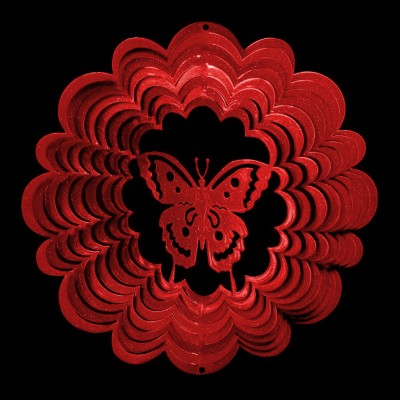 Windspinners Windspinners klein Butterfly 1045-KLEIN-ROOD  (H1004)